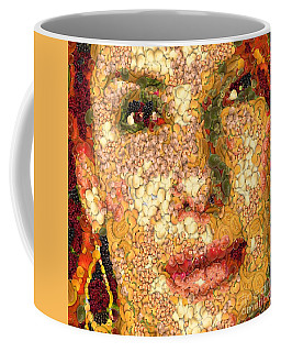 Coffee Mug featuring the digital art Sandra Bullock In The Way Of Arcimboldo by Dragica  Micki Fortuna