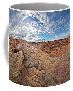 Coffee Mug featuring the photograph 360 View Of Vermillion Cliffs  by Yva Momatiuk John Eastcott