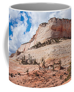 Coffee Mug featuring the photograph Sandstone Mountain by John M Bailey