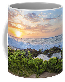 Coffee Mug featuring the photograph Sandy Beach Sunrise 2 by Leigh Anne Meeks