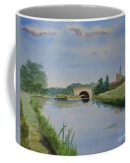 Coffee Mug featuring the painting Sandy Bridge by Martin Howard