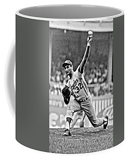 Sandy Koufax Throwing The Ball Coffee Mug