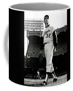 Sandy Koufax Vintage Baseball Poster Coffee Mug