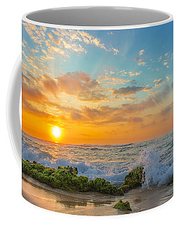 Sandy Beach Sunrise 3 Coffee Mug by Leigh Anne Meeks