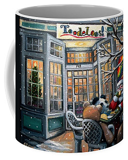 Santa At Toodeloos Toy Store Coffee Mug by Eileen Patten Oliver