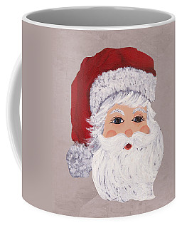 Coffee Mug featuring the painting Santa by Barbara McDevitt