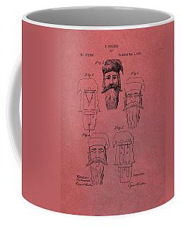 Santa Claus Mask Patent Red Coffee Mug