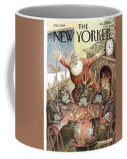 Santa Claus Rushed To Get His Reindeer Ready Coffee Mug
