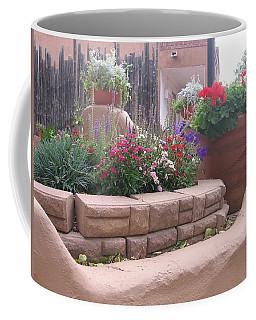 Coffee Mug featuring the photograph Santa Fe Adobe Patio by Dora Sofia Caputo Photographic Art and Design
