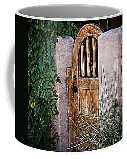 Santa Fe Gate Coffee Mug by Patrice Zinck