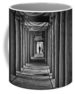 Coffee Mug featuring the photograph Santa Fe New Mexico Walkway by Ron White