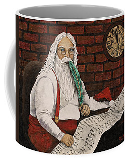 Santa Is Checking His List Coffee Mug