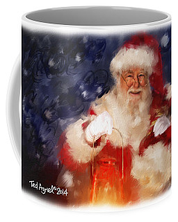 Santa Is Comin' To Town Coffee Mug by Ted Azriel