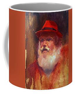 Santa Coffee Mug by Karen Whitworth