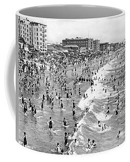 Santa Monica Beach In December Coffee Mug