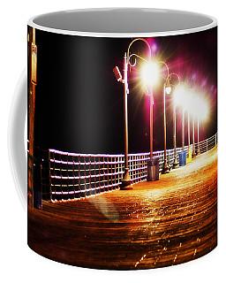 Santa Monica Pier At Night Coffee Mug