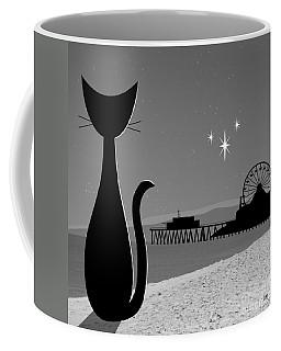 Coffee Mug featuring the digital art Santa Monica Pier by Donna Mibus