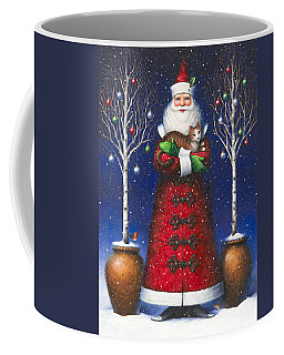 Santa's Cat Coffee Mug