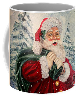 Santa's On His Way Coffee Mug