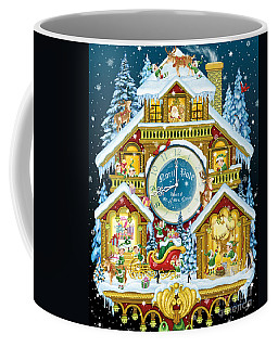 Santas Workshop Cuckoo Clock Coffee Mug