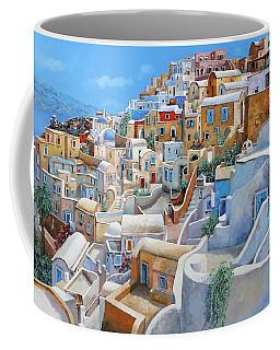 Santorini A Colori Coffee Mug