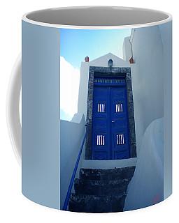Santorini Door  To Heaven  Coffee Mug