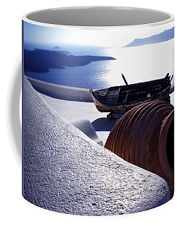Santorini Island Early Sunset View Greece Coffee Mug