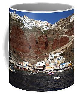 Santorini  Island  View To Oia Greece Coffee Mug
