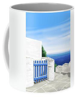 Santorini Coffee Mug by Veronica Minozzi