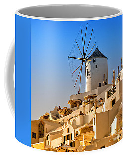 Santorini Windmill 05 Coffee Mug