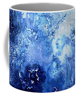 Sapphire Dream - Abstract Art Coffee Mug by Jaison Cianelli