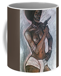 Coffee Mug featuring the drawing Sapphire by Gabrielle Wilson-Sealy