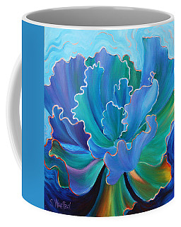 Coffee Mug featuring the painting Sapphire Solitaire by Sandi Whetzel