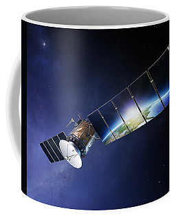 Satellite Communications With Earth Coffee Mug