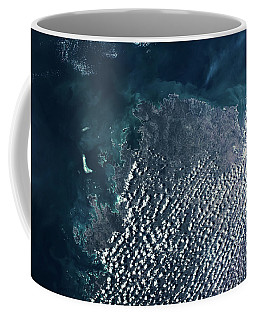 Satellite View Of Clouds Over Drysdale Coffee Mug