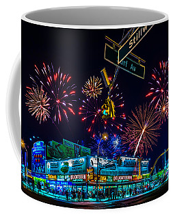 Coffee Mug featuring the photograph Saturday Night At Coney Island by Chris Lord