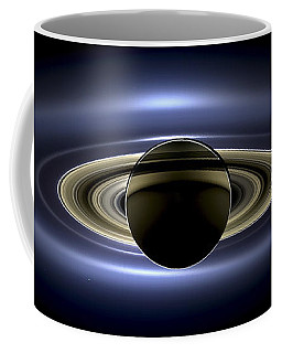 Saturn Mosaic With Earth Coffee Mug