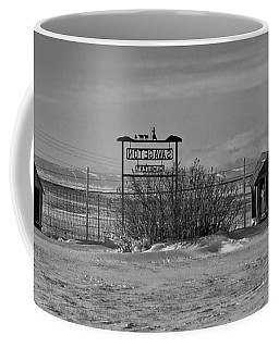 Coffee Mug featuring the photograph Savageton Cemetery  Wyoming by Cathy Anderson