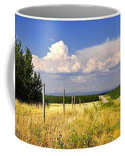 Coffee Mug featuring the photograph Sawmill Creek Road by Cathy Mahnke