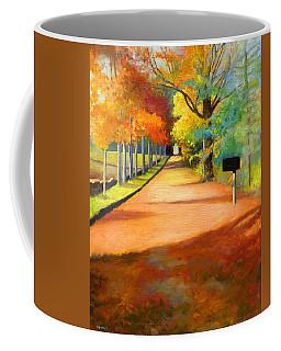 Sawmill Road Autumn Vermont Landscape Coffee Mug