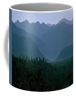 Sawtooth Mountains Silhouette Coffee Mug by Ed  Riche