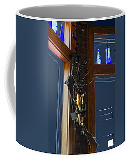 Coffee Mug featuring the photograph Sax At The Full Moon Cafe by Greg Reed