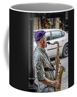 Sax In The Street Coffee Mug