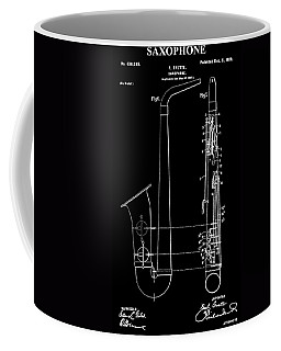 Saxophone Patent Black And White Coffee Mug
