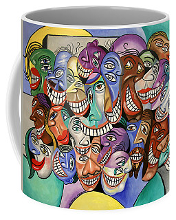 Coffee Mug featuring the painting Say Cheese by Anthony Falbo