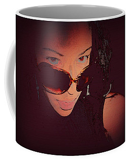 Futuristic Women Sunglasses Fashion Style Art Print Ai P. Nilson  Coffee Mug