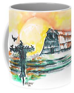 Scarecrow Welcomes The Morning Coffee Mug