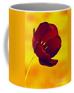 Scarlet Tulip At Sunset Coffee Mug