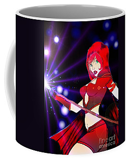 Coffee Mug featuring the drawing Scarlett Lights 1a by Justin Moore