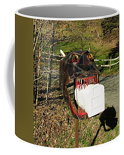 Coffee Mug featuring the photograph Scary Mailbox 2 by Sherman Perry